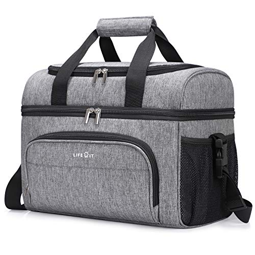 Lifewit Collapsible Cooler Bag 32-Can Insulated Leakproof Soft...
