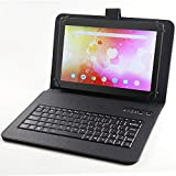 Famishow 10.1 Inch Android 8.1 Tablet with Bluetooth Keyboard Case, 2GB RAM,16GB Storage,800x1280 IPS Panel, WiFi,Quad Core, Dual Camera, Bluetooth (Black)