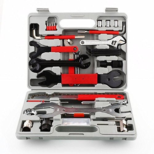 Femor Fahrrad Werkzeugkoffer 48tlg Fahrrad Werkzeug Set, Fahrradwerkzeug für Fahrrad Montagearbeiten und Reparaturen, Fahrrad Werkzeugset mit Tragekoffer und Multitool