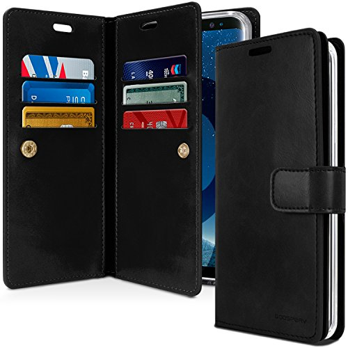 Goospery Mansoor Wallet for Samsung Galaxy S9 Plus Case (2018) Double Sided Card Holder Flip Cover (Black) S9P-Man-BLK