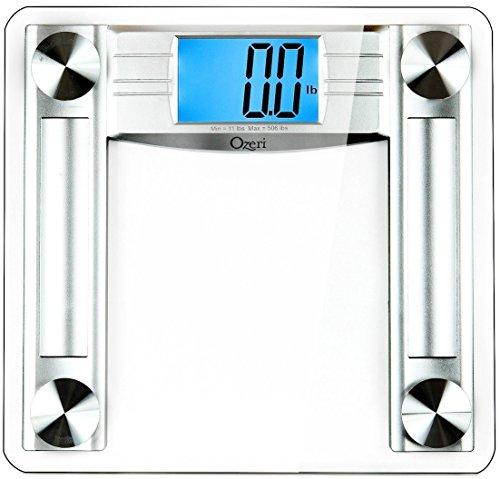 Ozeri ProMax 560 lbs / 255 kg Bath Scale, with 0.1 lbs / 0.05 kg Sensor Technology, and Body Tape Measure & Fat Caliper