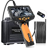 Teslong Inspection Camera 8MM, Industrial Endoscope-Borescope, 16.4 ft Cable, 6 LED Lights with Dual Lens, 1080P HD Image, 4.5 Inches IPS Screen, 32 GB Card, IP67 Waterproof, Tempered Glass