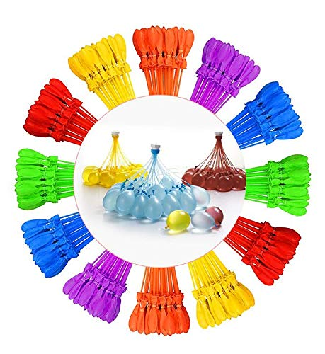 LENI Water Balloons 16 Pack 592 Water Bomb Easy Quick Fill for Splash Fun Kids and Adults Party Pool Wasserbomben in 60 Sekunden