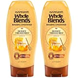 Garnier Whole Blends Honey Treasures Repairing Conditioner for Dry Damaged Hair, 22 Fl Oz (Pack of 2)