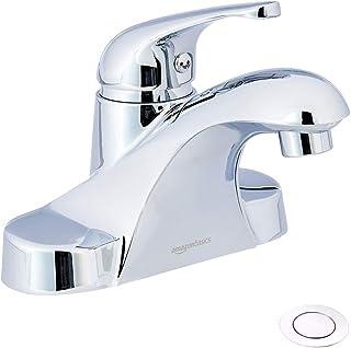 AmazonBasics AB-BF605-PC Basin Faucet-4-Inch, Polished Chrome