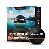 Deeper PRO+ Smart Sonar - GPS Portable Wireless Wi-Fi Fish Finder for Shore and Ice Fishing, Black, 2.55' (DP1H10S10)