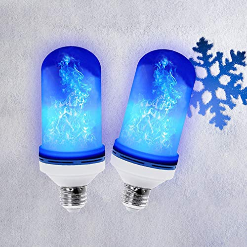 Led Flickering Flame Effect Light Bulb 2 Pack E26, Super 4 Modes with Upside Down Effect,...