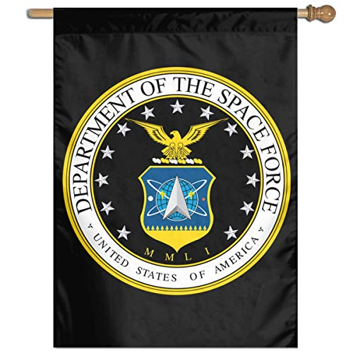 YHKC Bandiera Garden Flag 27 X 37 inch Size Banner for Party Home Outdoor Decor Space Force