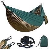 flintronic Hamac d'extérieur de Camping, Double Léger Nylon Hamac en Plein air Portable, 275 x 140cm Charge...