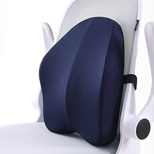 Product Image 1: matvio Back Support Pillow for Office Chair - Ergonomic Posture Corrector Pure Memory Foam Lumbar Cushion - Perfect Backrest for Car, Desk, Recliner Chair and Any Seat