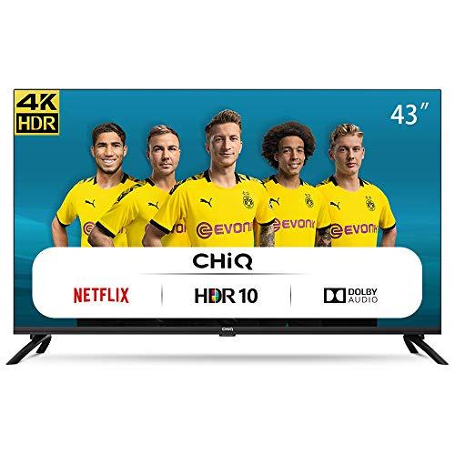 CHiQ Televisor Smart TV LED 43 Pulgadas, Resolución 4K UHD, HDR...