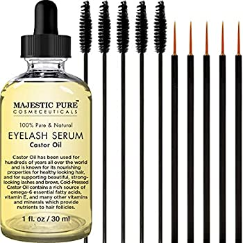 Castor oil has been used for hundreds of years all over the world as a remedy to thinning, stunted hair, helps eyelashes and brows appear longer and thicker, as well as fight hair loss Majestic Pure Castor Oil Eyelash Growth Serum consists of 100% pu...