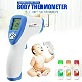 Digital Infrared Forehead Thermometer Non-Contact Digital Medical Thermometer for Baby, Adult, Child, Surface of Objects(Blue)