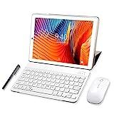 Tablet 10 Pulgadas YOTOPT, 4GB de RAM y 64 GB de Memoria 4G LTE Tableta Android 10.0 Certificado por Google GMS Dobles SIM y TF, GPS WiFi Soporte (Oro)