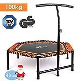 amzdeal Fitness Trampoline Indoor Jumping avec Poignée en Forme T...