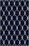 Brumlow Mills Nautical Rope Trellis Navy Area Rug, 3'4' x 5'