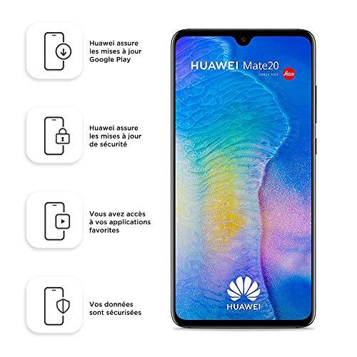 Huawei Mate 20 Smartphone débloqué 4G (6,53 pouces - 128 Go/4 Go - Double Nano-SIM - Android) Noir [Version européenne]