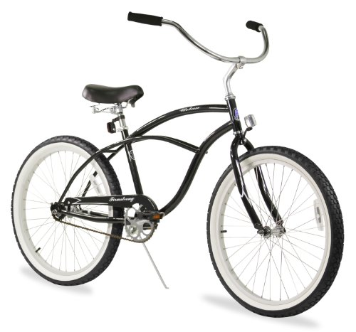 Firmstrong Urban Man Beach Cruiser Bike, Mens Bicycle 24-Inch, 1-Speed, Black