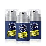 NIVEA MEN Soin Barbe Courte + Visage 2-en-1 (3 x 50 ml), Soin visage homme adoucissant à la Camomille et l'Hamamélis, kit entretien barbe courte sans alcool