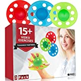 Pykal 3x Hand and Finger Strengtheners - 15+ VIDEO EXERCISES included with HAND POWER PRO   Finger Exerciser Hand Grip Strengthener For Seniors, Arthritis, Carpal Tunnel, Computer Users, Rock Climbers