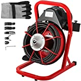 Mophorn 50 Ft x 1/2 Inch Drain Cleaner Machine fit 1 Inch (25mm) to 4 Inch(100mm) Pipes Drain...