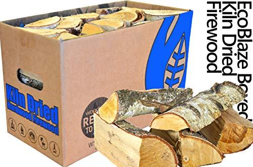 EcoBlaze Legna da Ardere premio tronchi di legno duro da 25 cm essiccati al 20% - caminetti, stufe,...