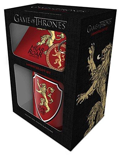 Juego de Tronos posavasos y llavero casa lannister regalo oficial Set Talla Única