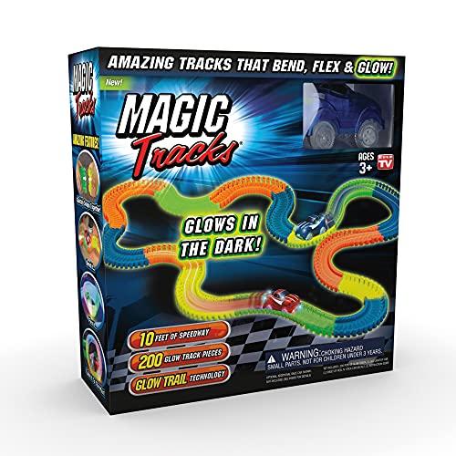 Ontel Magic Tracks Original, 10 Feet of Glow in The Dark Track with...