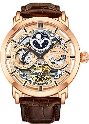 Stuhrling Herren Uhr Analog Automatik mit Leder Armband 371Z.03