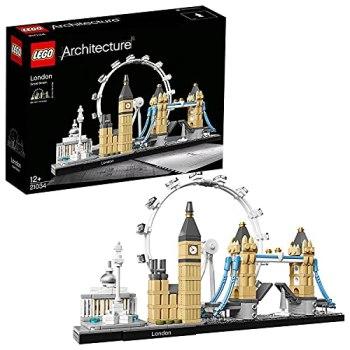 LEGO 21034 Architecture Skyline Model Building Set, London Eye, Big Ben, Tower Bridge Collection, Construction Collectible Gift Idea