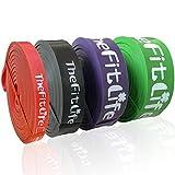 TheFitLife Bandes Elastique Musculation Fitness - Bandes d'exercice Longues Bandes de Boucle d'entraînement pour l'étirement du Corps, la dynamophilie, l'entraînement Physique