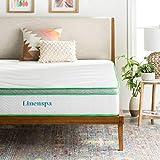 LINENSPA 10 Inch Latex Hybrid Mattress - Supportive - Responsive Feel - Medium Firm - Temperature Neutral - King