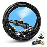 homenote Misting Cooling System 75FT (23M) Misting Line + 28 Brass Mist Nozzles + a Brass Adapter(3/4') Outdoor Mister for Patio Garden Greenhouse Trampoline for waterpark