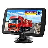 AWESAFE 9 Pulgadas Navegador GPS para Camiones y Coches, con Bluetooth y Actualizaciones de Mapas de...