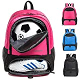 Boys Girls Soccer Bags Soccer Backpack Basketball vollyball Football Bag Backpack Youth with Ball Compartment All Sports Gym Bag