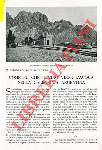 Il lavoro italiano all'estero. Come fu che il vino vinse l'acqua nella California