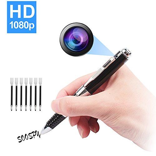 SOOSPY Spy Pen Hidden Camera, 1080P HD Mini Portable Camera...