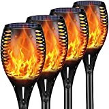 Solar Outdoor Torch Lights, YoungPower LED Landscape Lighting 43' Solar Outdoor Path Lights Waterproof Solar Flame Lights Torch Dusk to Dawn Auto On/Off Security for Garden Yard Patio, 4 Pack