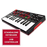 Akai Professional MPK Mini Play | Standalone Mini Keyboard & USB Controller With Built In Speaker, MPC Style Pads, On board Effects, 128 Instrument & 10 Drum Sounds, & Software Suite Included