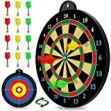 Magnetic Dart Board - 12pcs Magnetic Darts (Red Green Yellow) - Excellent Indoor Game and Party Games - Magnetic Dart Board Toys Gifts for 5 6 7 8 9 10 11 12 Year Old Boy Kids and Adults