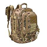 PANS Backpack for Men Large Military Backpack Tactical Waterproof Backpack for Work,School,Camping,Hunting,Hiking(Multicam)