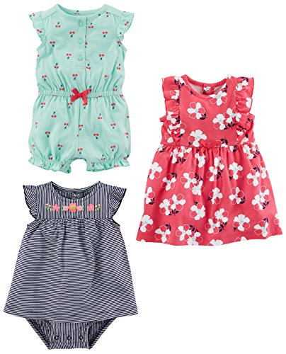 Simple Joys by Carter's Baby Girls' 3-Pack Romper, Sunsuit and...