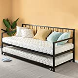 Zinus Eden Twin Daybed and Trundle Set / Premium Steel Slat Support / Daybed and Roll Out Trundle Accommodate Twin Size Mattresses Sold Separately