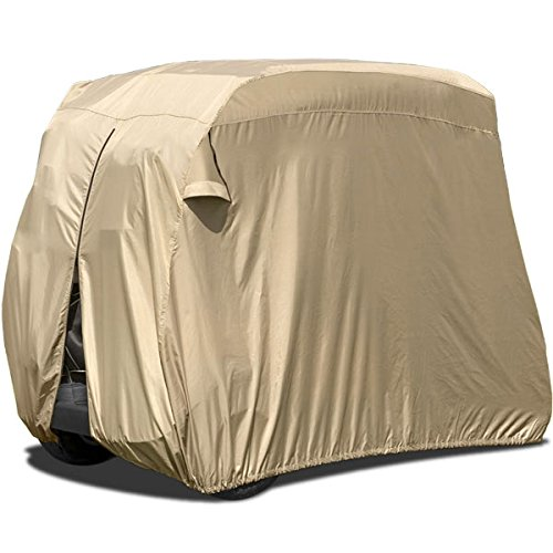 North East Harbor Waterproof Superior Beige Golf Cart Cover...