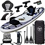 South Bay Board Co. - Premium Inflatable Stand Up Paddle Board - The Deluxe Package - 11'6 Aqua Discover Fishing ISUP