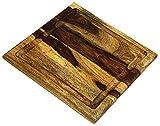 Mountain Woods Brown Organic Hardwood Sheesham Cutting Board w/Juice groove   Chopping and Carving Kitchen Countertop   Butcher Block - 11' x 11'