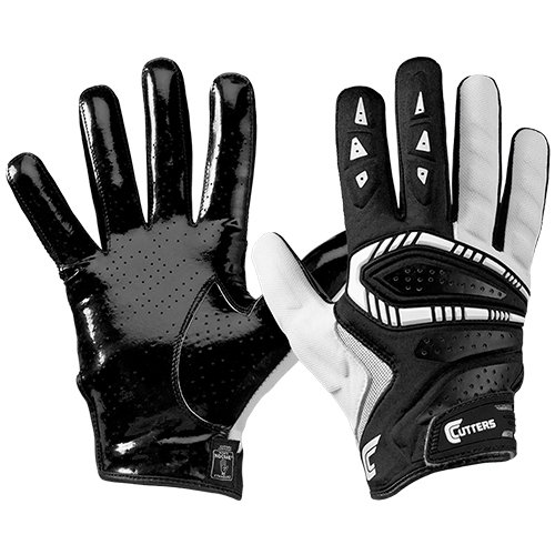 Cutters S652 Gamer 3.0 Padded Receiver Glove-Adult: Large-BLACK