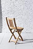 XXS Gartenstuhl Sitzmöglichkeit aus Akazien-Holz massiver Klappstuhl - 2