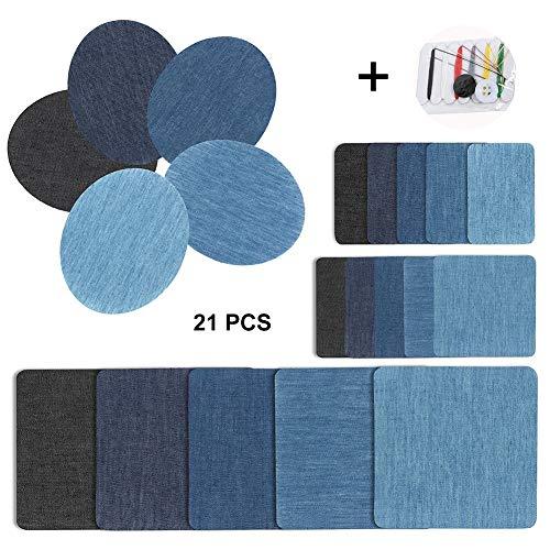 Patches zum Aufbügeln Set - Jeans Bügelflicken,20 Stück 5 Farben...