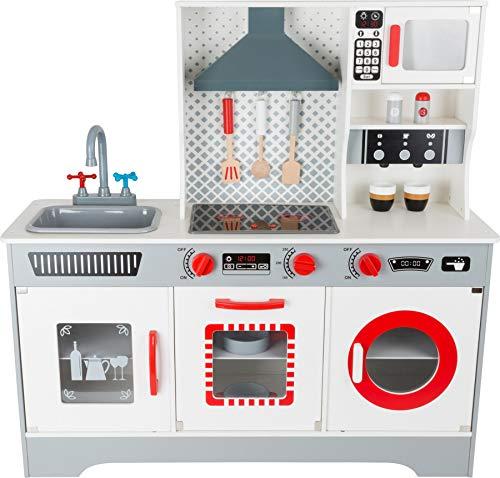 11081 Cucina per bambini 'Premium' small foot in legno, incl. macchina per il caff, lavastoviglie,...
